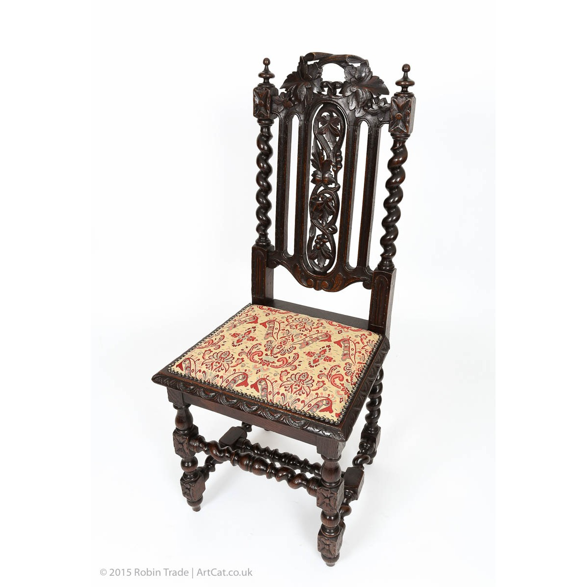 Gothic furniture chair - Set Of Six Antiquue Gothic Style Solid Oak Victorian Dining Chairs