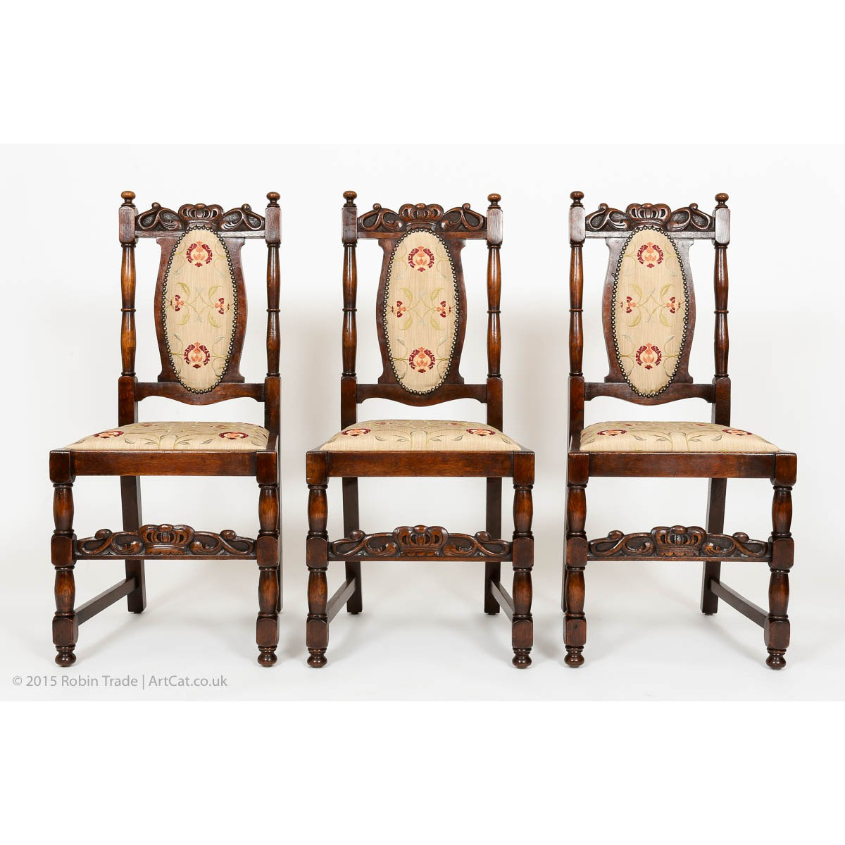 Tables Dining Furniture High Carved Oak Sidechair