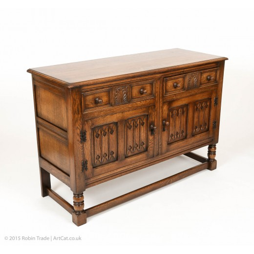 Vintage Large Solid Oak Sideboard