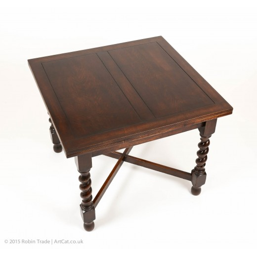 Oak Barley Twist Draw Leaf Table 01