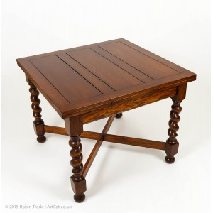 Oak Barley Twist Draw Leaf Table 04
