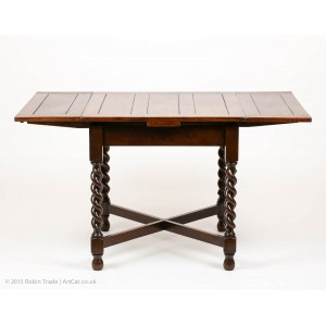 Oak Barley Twist Draw Leaf Table 05