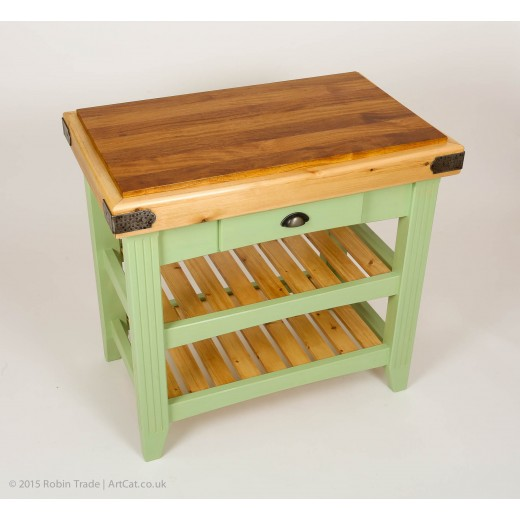 Kitchen Island or Butchers Block - Hardwood and Softwood Combination